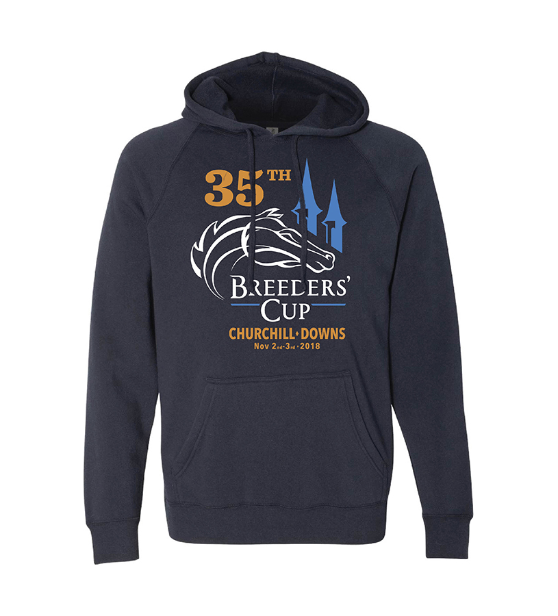 Breeders' Cup Churchill Logo Heathered Hoodie,BC9625