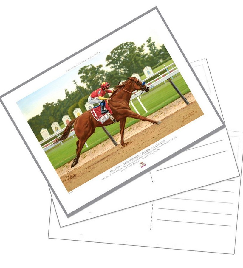 "Justify Official Edition Postcard,103W 6X8"" OPEN"