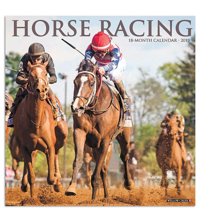 2019 Horse Racing Calendar,#01448 2019