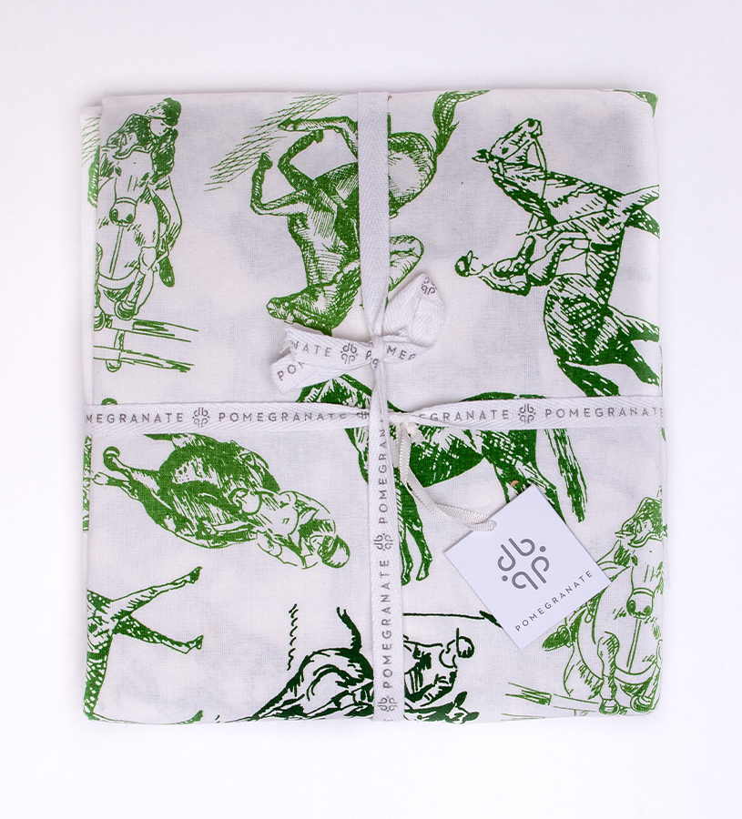 Equestrian Sketch Tablecloth by Pomegranate,1634655 55 X 55
