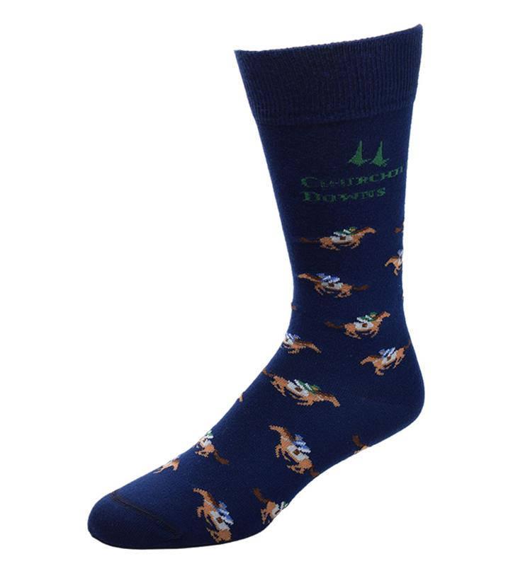 Churchill Downs Horse and Jockey Socks,505-7 ALL OVER