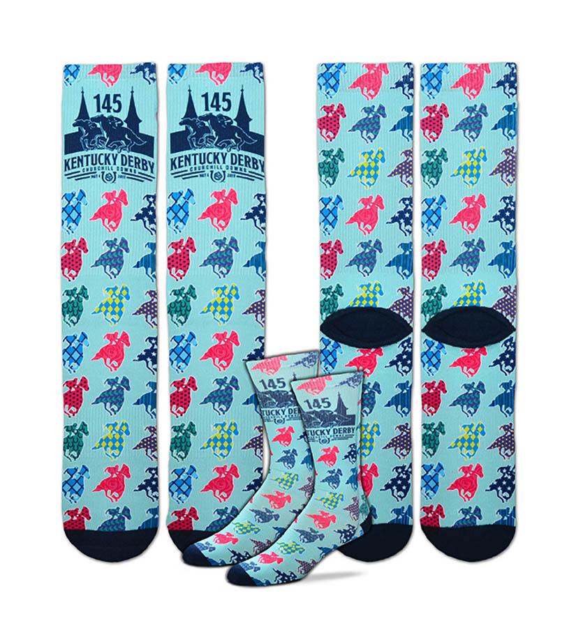 Kentucky Derby 145 Patterned Horse Socks,308S PATTERNED