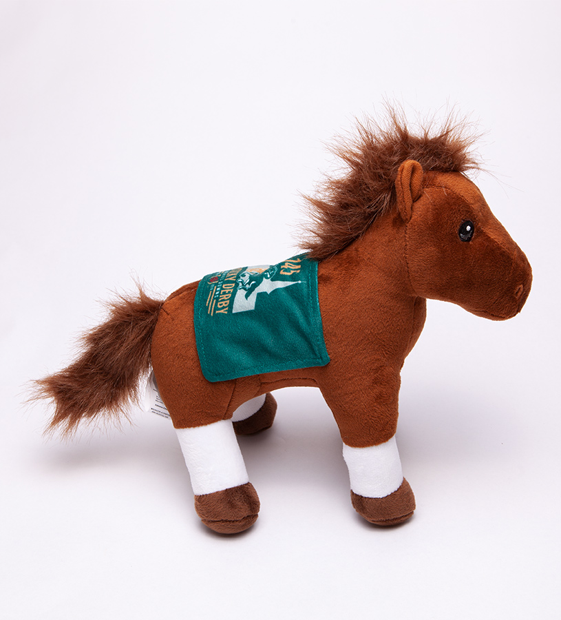 Kentucky Derby 145 Standing Blanket Horse Plush,B10HRBHRSKYD19
