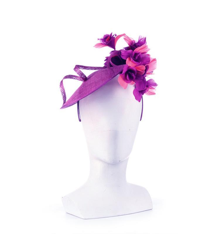 The Native Dancer Fascinator,KDL3-GRAPE