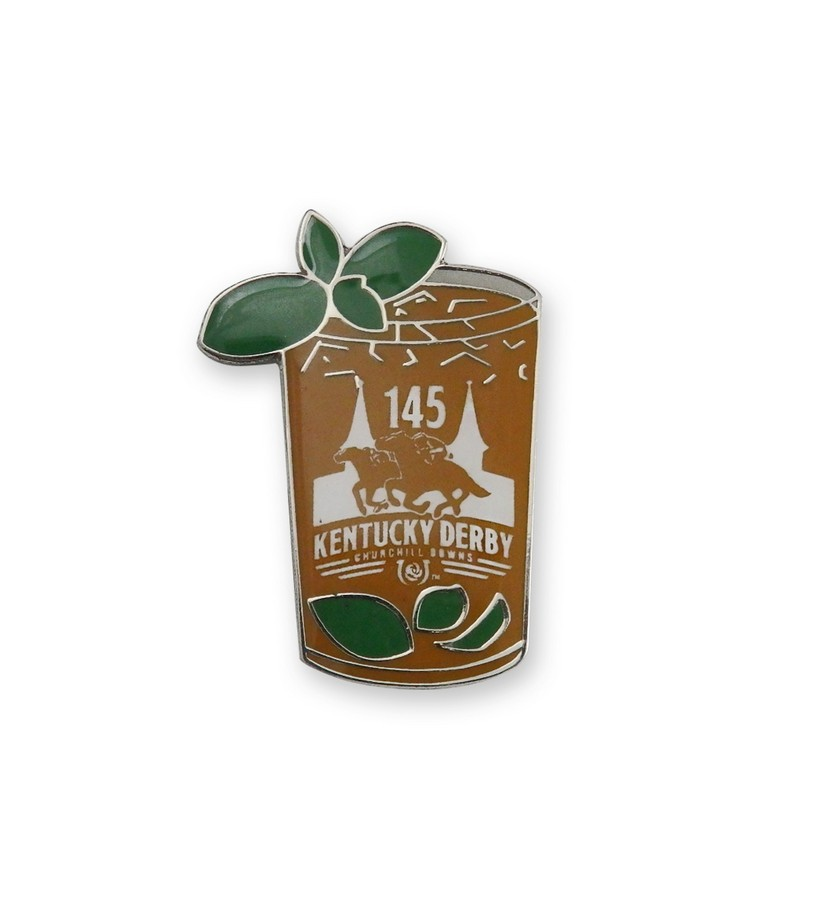 Kentucky Derby 145 Mint Julep Lapel Pin,Chocolate & Mint,KLP1906 LAPEL PIN