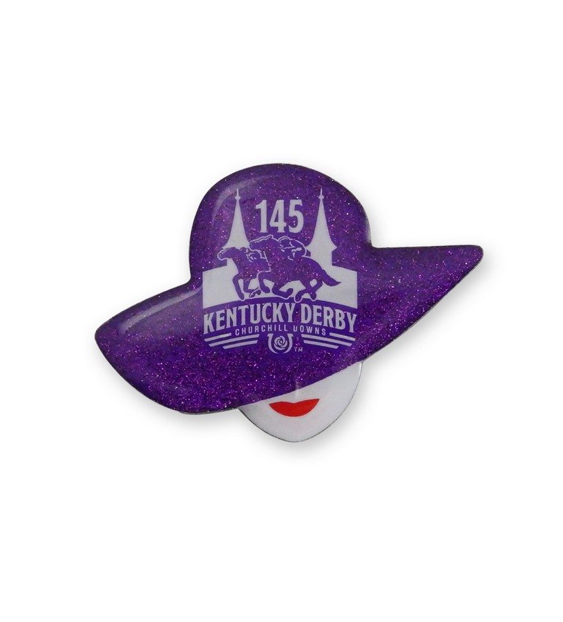 Kentucky Derby 145 Derby Hat Lapel Pin,KLP1907 LAPEL PIN