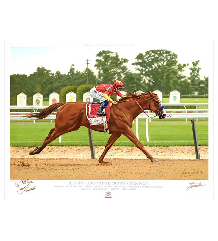 Triple Signed Limited Edition Graeme Baxer Justify Print,104W TRIPLE SIGNED
