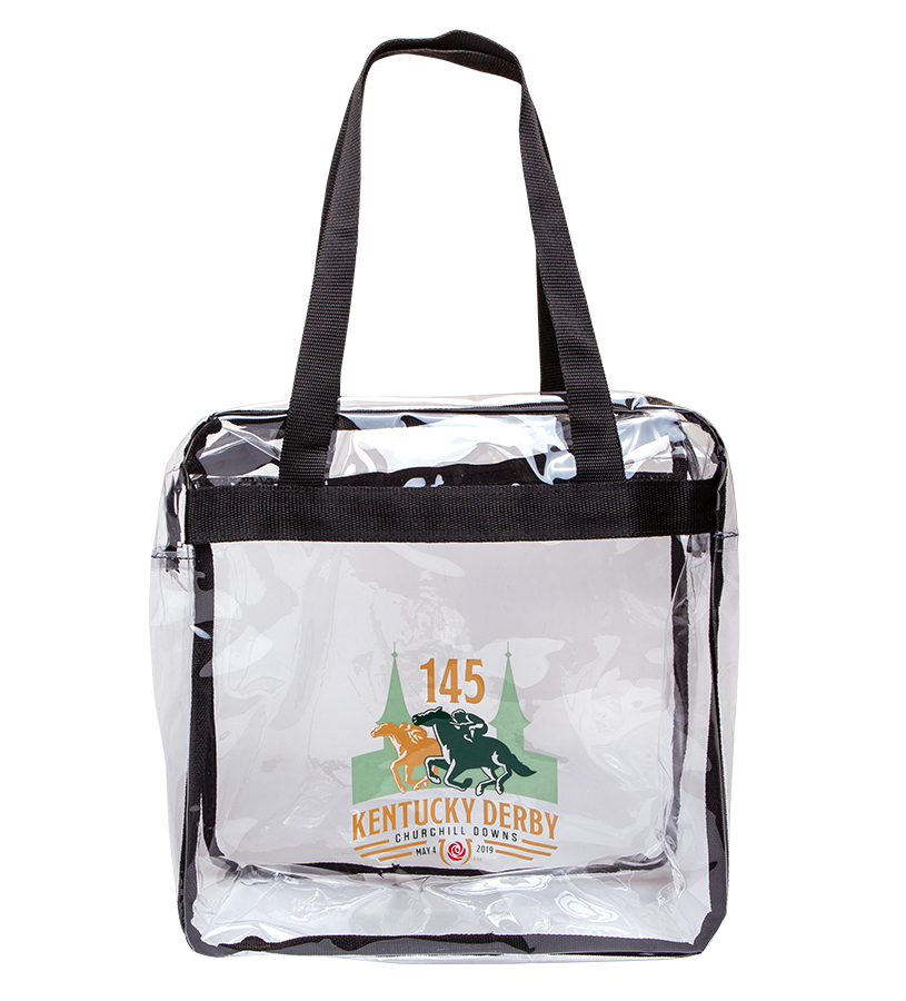Kentucky Derby 145 Clear Zippered Game Day Tote,9KTDGZC ZIPPERED