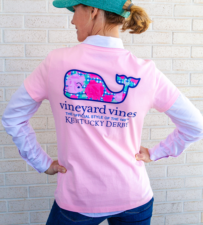 Kentucky Derby 2019 Run for the Roses Tee,Kentucky Derby 145-2019 Vineyard Vines Collection,2V000050 FLAMINGO