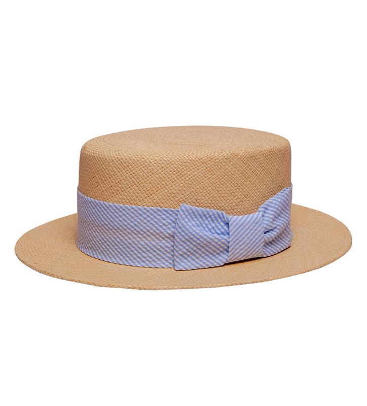 Kentucky Derby 2019 Straw Boater,1F000079 JAKE BLUE