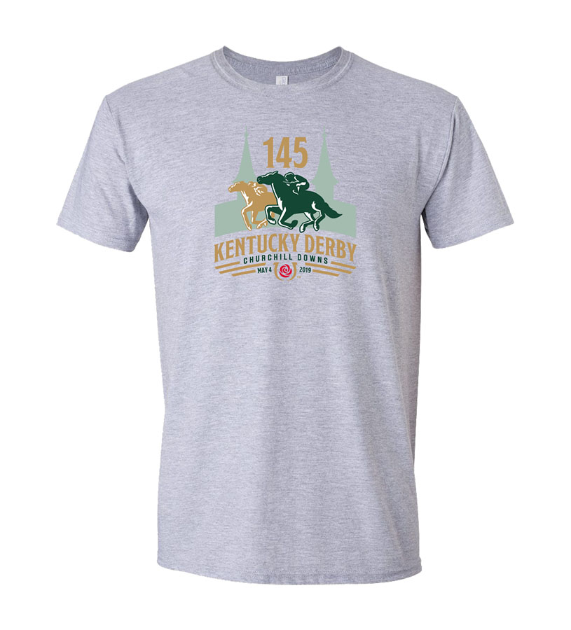 Kentucky Derby 145 Official Logo Tee,9KTSG SPORT GREY