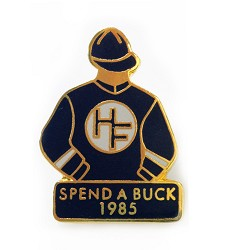 1985 Spend A Buck Tac Pin