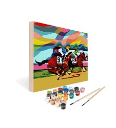 Paint by Number Art Kit--Thrill of the Race