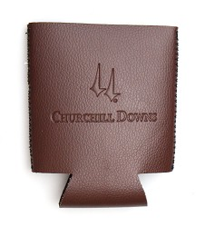 Churchill Downs Embossed Leather Can Coozie
