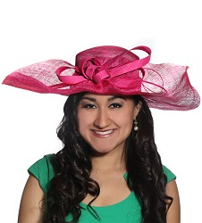 The Folded Brim Hat Fuchsia