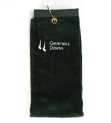 Churchill Downs Embroidered Golf Towel Green
