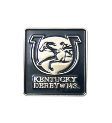 Kentucky Derby 143 Square Lapel Pin,KLP1701 SQUARE