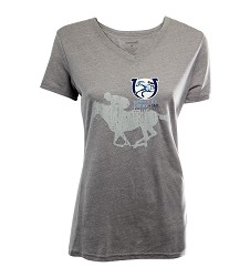 Kentucky Derby 143 V-Neck Oxford Triblend Tee,T23G-143LOGO