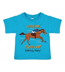 Catch Me If You Can Kentucky Derby Toddler Tee,3921 LIGHT BLUE