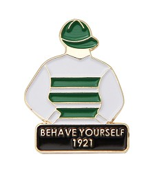 1921 Behave Yourself Tac Pin