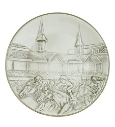 Churchill Downs Embossed Grandstand Platter