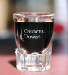 Churchill Downs Fluted Shot Glass,01-300 LITE ETCH