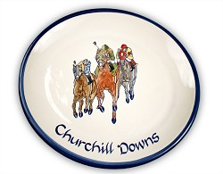 Churchill Downs Large Oval Platter by Louisville Stoneware,CUSTD036 COMIN