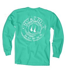 Churchill Downs Long-Sleeve Coffee Ring Tee,HWD-CDI OLL-SEAFOAM