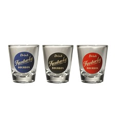 Drink Kentucky Bourbon Shot Glass Gray