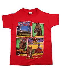Kid's Kentucky Derby Facts Tee Red 10/12