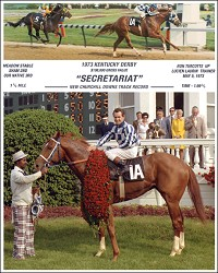 "Secretariat Photo Composite 8""x10"""