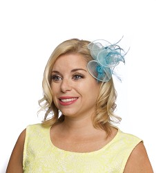 The Organza Clip Fascinator Turquoise