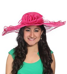 The Rippled Layer Hat Fuchsia Pink