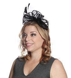 The Side Bow Fascinator Black