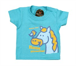 Toddler's Horse and Bird Tee Turquoise 6M
