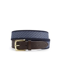 Vineyard Vines Horsebits Belt Navy 30""