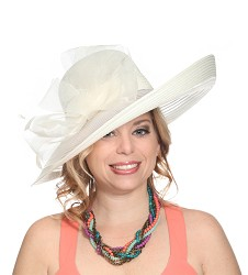 The Horsehair Up-Brim Hat Ivory
