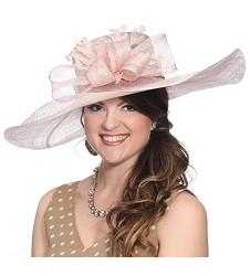 The Chevron Feather Hat,60DERBY-PINK