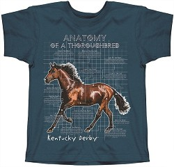 Youth Thoroughbred Anatomy Tee,CUSTOM