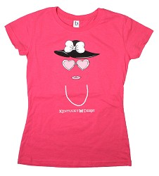Girls' Derby Pearls and Hat Tee,YTIS-PEARL