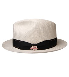 Men's Kentucky Derby Shantaung Fedora,BS3447-IV/BLK
