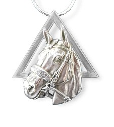 American Pharoah Sterling Pyramid Necklace