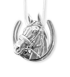 American Pharoah Sterling Horseshoe Necklace,2015HS