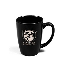 Kentucky Derby 143 Etched Duet Mug,02-126 BLACK DEEP