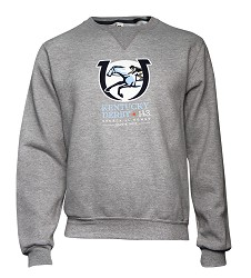 Kentucky Derby 143 Official Logo Crewneck Sweatshirt,GRAY CREW