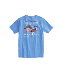 Vineyard Vines 2017 Bugle Whale Pocket Tee Light Blue Small