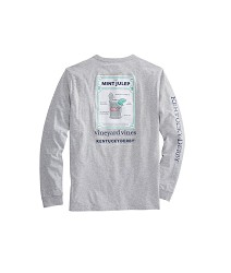 Vineyard Vines 2017 Julep Recipe Pocket Long-Sleeve Tee Light Gray Small