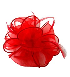 The Organza Pouff Clip Red