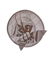 The Curled Quill Fascinator Latte