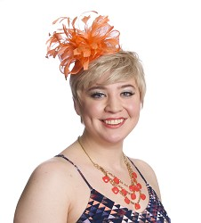 The Feather Sparkler Fascinator Orange